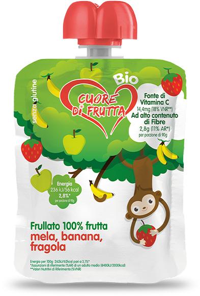 merenda-di-frutta-scimmi-mela-banana-fragola