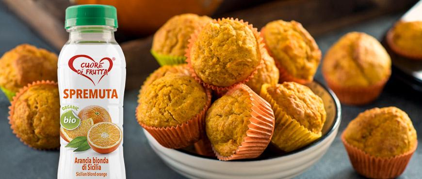 muffins-zucca-e succo-arancia-cuore-di-frutta